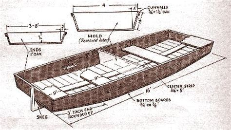 Wooden Punt Boat Plans by Duck Boat Publications