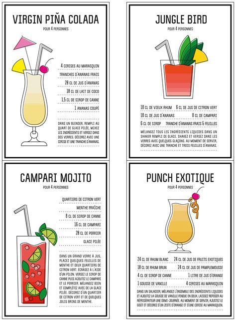 jeux de cuisine pour les filles gratuit nos fiches de cocktails à imprimer prima