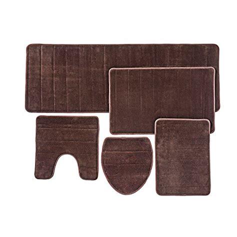 Bathroom Rug Mat, 5piece Set Memory Foam, Extra Soft Non