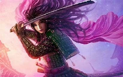 Warrior Asian Woman Female Fantasy Wallpapers Background