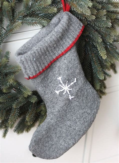 tutorial easy wool sweater christmas stockings sewing