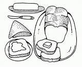 Coloring Butter Kawaii Peanut Pizza Jelly Sandwich Clipart Tasty Ratatouille Template Ausmalen Zum Library sketch template