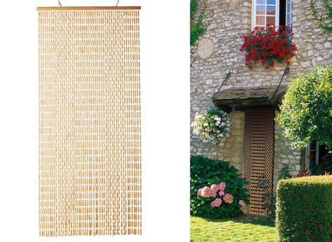 rideau de porte olives de buis naturel 90 x 220 cm jardideco