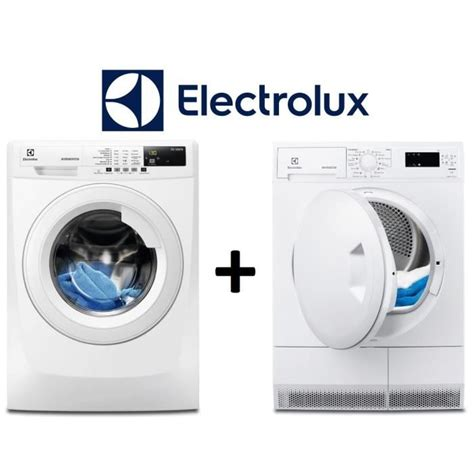 pack lavage s 233 chage electrolux lave linge ewf1472bs 7kg a s 232 che linge edp2074pzw 7kg b