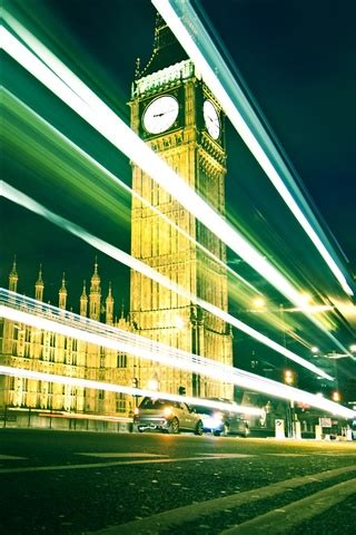 londons big ben  night iphone  gs wallpaper