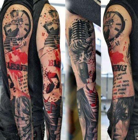 sleeve tattoos  men lyrical ink design ideas