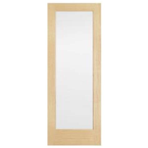 interior glass doors home depot steves sons 30 in x 80 in full lite solid core pine obscure glass interior door slab