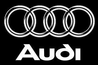 audi logo black and white audi