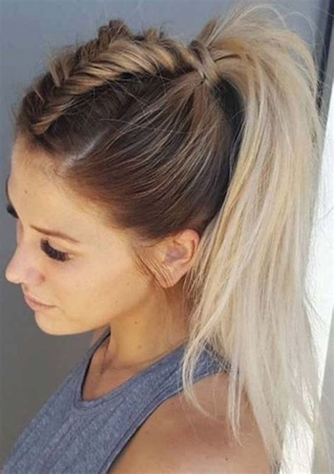 Summer Ponytail Hairstyles by Easy Summer Hairstyles For Hair Hairstylesco