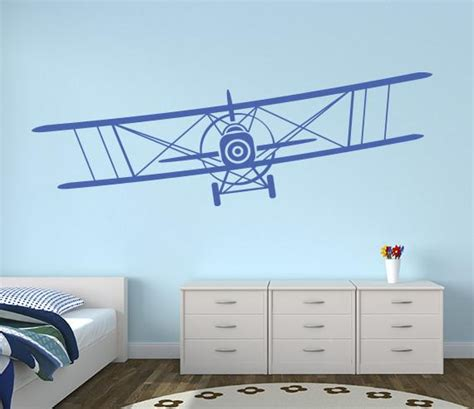Free delivery and returns on ebay plus items for plus members. Airplane Biplane Wall Decal Nursery Art Decor Vinyl ...