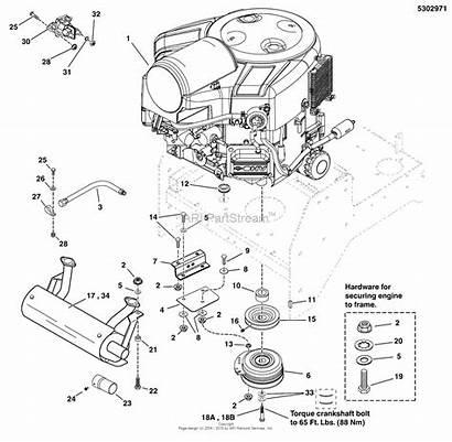 Stratton Briggs Engine Pto Snapper Turn Zero