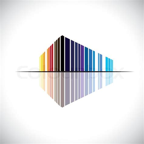 Colorful Abstract Icon Of A Commercial Building