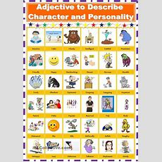 Adjective To Describe Personality And Character  Esol Literacy Projects Online Books