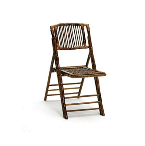 bamboo folding chairs industry event rentals