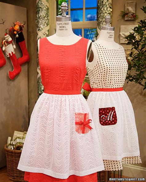 martha stewart christmas crafts for adults apron