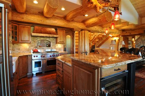 log homes kitchen dining image gallery bc canada