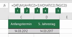 Mac Wert Berechnen : datum funktion office support ~ Themetempest.com Abrechnung