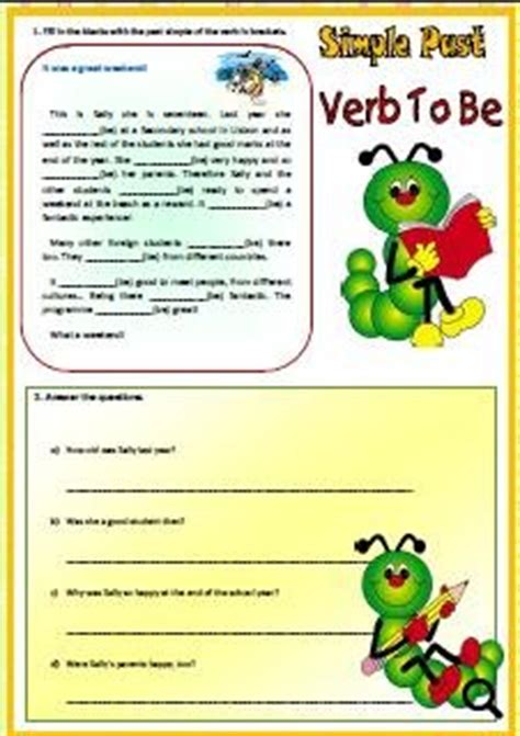 Simple Past Of Verb To Be