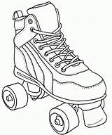 Roller Skate Coloring Pages Colouring Derby Skates Skating Drawing Sketch Sheets Quad Tattoo Clipart Jamestown Printable Drawings Shoes Books Cake sketch template