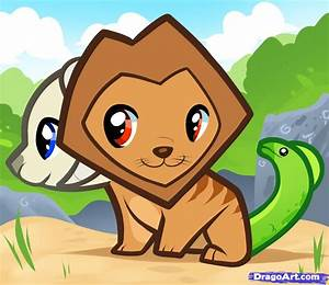 How to Draw a Chimera for Kids, Step by Step, Fantasy For ...