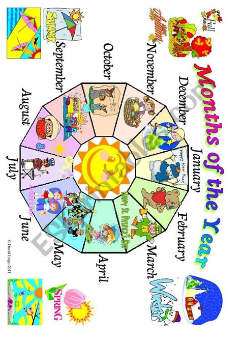 months of the year poster esl worksheet by david lisgo 862 | 568368 1 Months of the Year poster