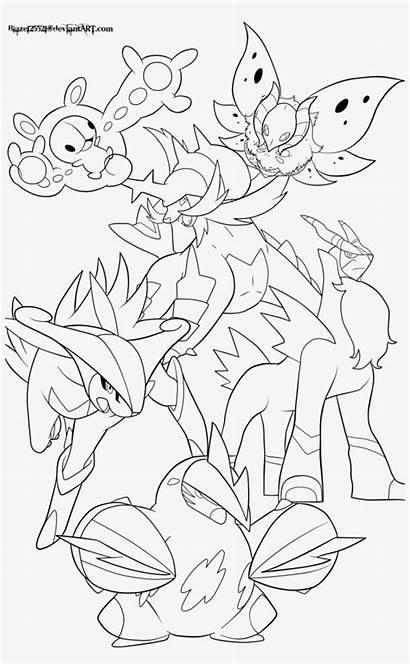 Pokemon Legendary Coloring Lineart Creative Mega Lugia