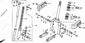 Honda Scooter 1998 Oem Parts Diagram For Front Fork