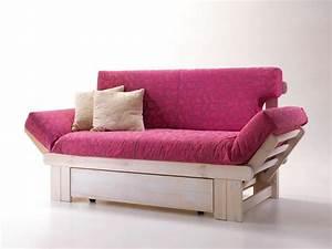 Divano letto rustico, in legno, con contenitore IDFdesign