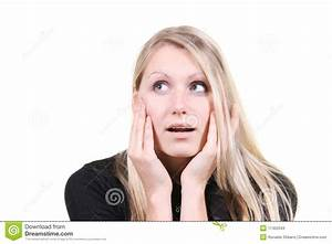 Woman With Surprised Face Expression Stock Photos - Image ...