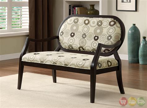 Living Room Bench With Arms by Cairns Ii Contemporary Espresso Accent Chair With Padded