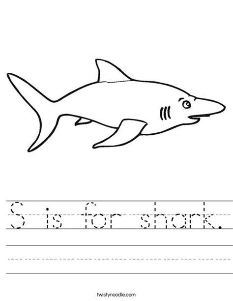 S Is For Shark Worksheet  Twisty Noodle
