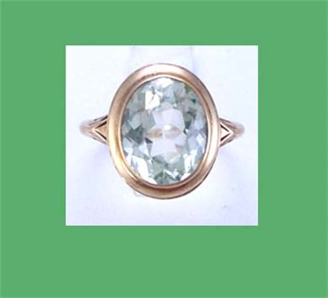 light green stone ring light green spinal stone 14k gold ring
