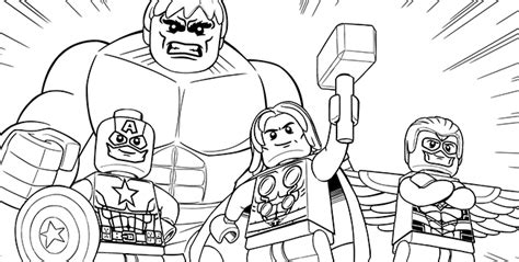 avengers  coloring pages lego marvel super heroes