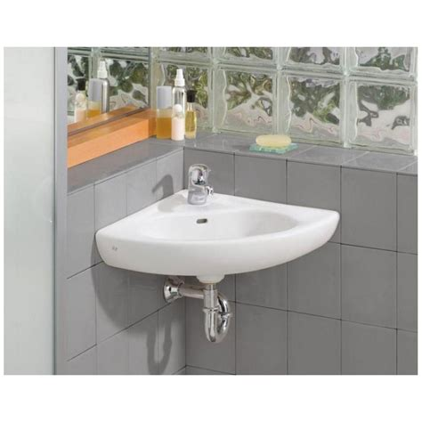 tiny corner bathroom sink the daily tubber corner sinks for small bathrooms
