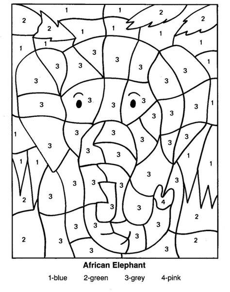 Coloring With Number by Number Coloring Pages 16 Coloring
