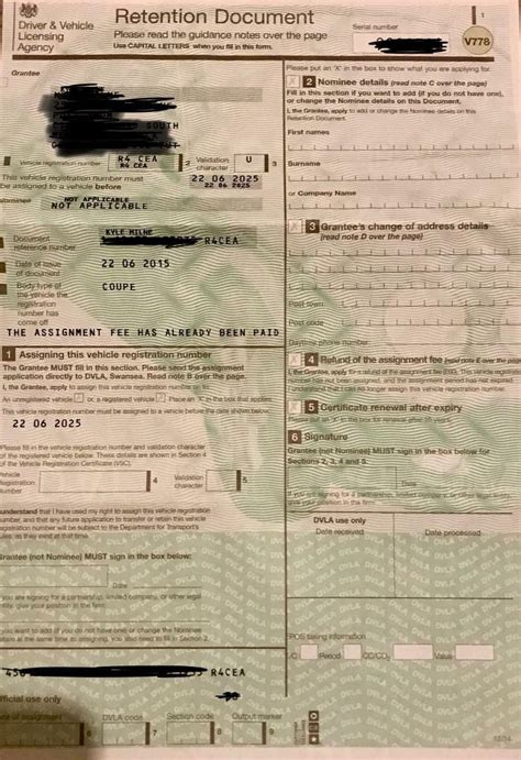 private number plate  retention certificate  colchester essex gumtree