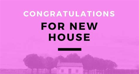 congratulations messages   house