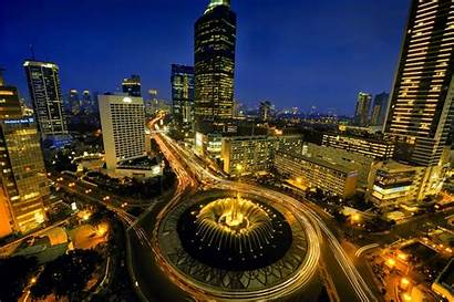 Malam Hari Indonesia Wisata Yang Jakarta Bundaran