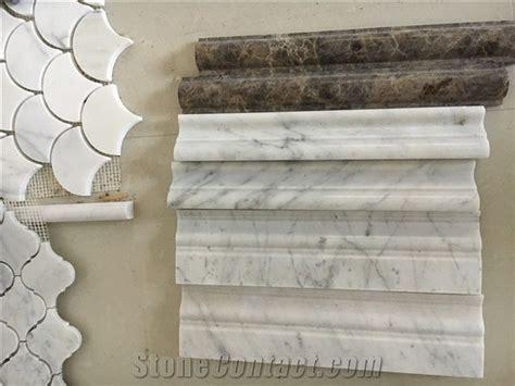 white marble skirtings bianco carrara trim  chair rails