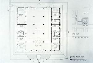 mosque floor plan kowloon mosque b w drawing ground floor ...