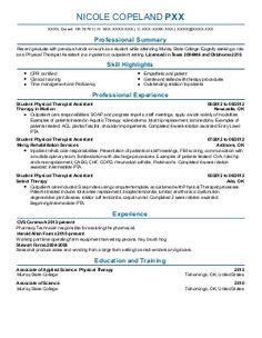 Physical Therapist Resumes Search by 1000 Images About Resume On Resume Exles