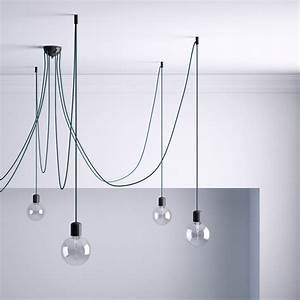 Crochet Plafond Adhésif : kit de d centralisation crochet au plafond noir pour ~ Premium-room.com Idées de Décoration