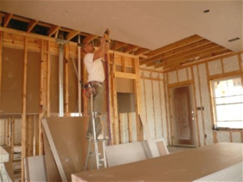Hanging Drywall On Ceiling Or Walls by How To Hang Drywall Hanging Drywall