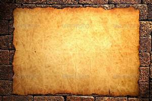 Old notebook paper on wall background - Stock Photo ...