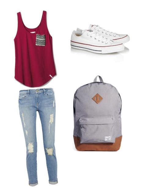 A cute simple outfit for school Discover and share your fashion ideas onu2026   school swag ...
