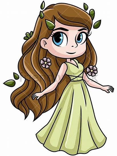 Goddess Demeter Cartoon Clipart Greek Harvest Gods
