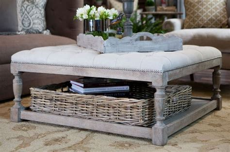 Using An Ottoman As A Coffee Table by Ottoman Coffee Tables Diy Decorator