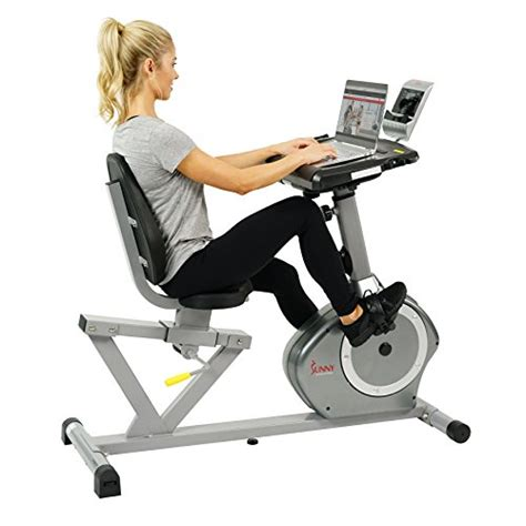 Recumbent Bike Fit Desk by Health Fitness Magnetic Recumbent Desk Exercise