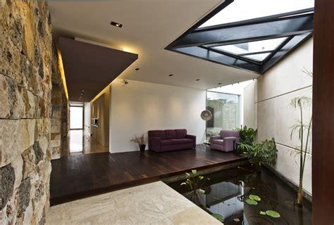 Homes With Indoor Ponds by Indoor Pond Interior Design Ideas