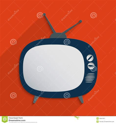 tv csi color symbol image template retro television stock vector image 40647657